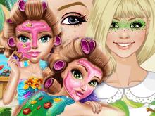 Игры Делаем макияж для девочек
