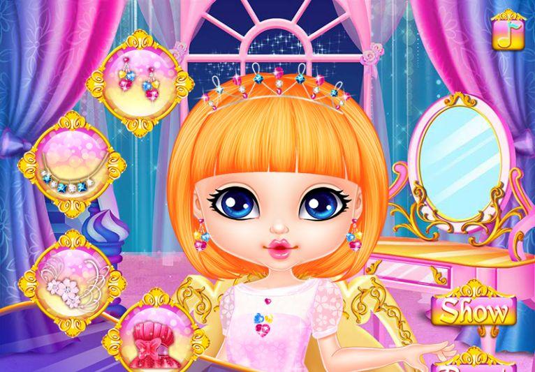 Для девочек одевалки принцесс диснея парикмахерская.