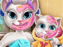 Реальный макияж: Кошка Анжела и дочка