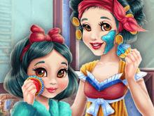 Макияж для Белоснежки и ее дочки