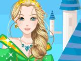 Принцесса на фоне замка