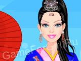 Барби в японском костюме