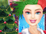Прическа на Рождество