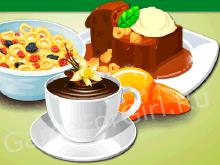 Сладкий завтрак с кофе