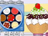 Украшение мороженого