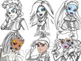 Раскраска — Персонажи Школы монстров