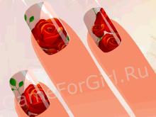 Дизайн ногтей: Цветы