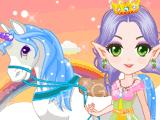 Принцесса эльфов и единорог