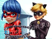 Супер Кот спасает Леди Баг